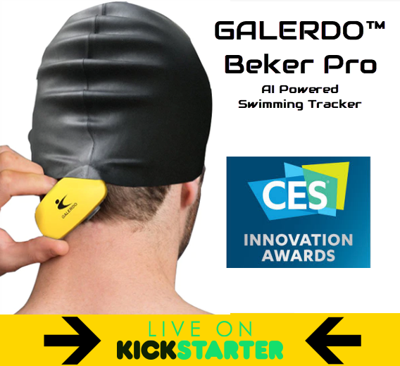 Galerdo™ : 1st Headset-free AI Audio Tracker for Swimmers